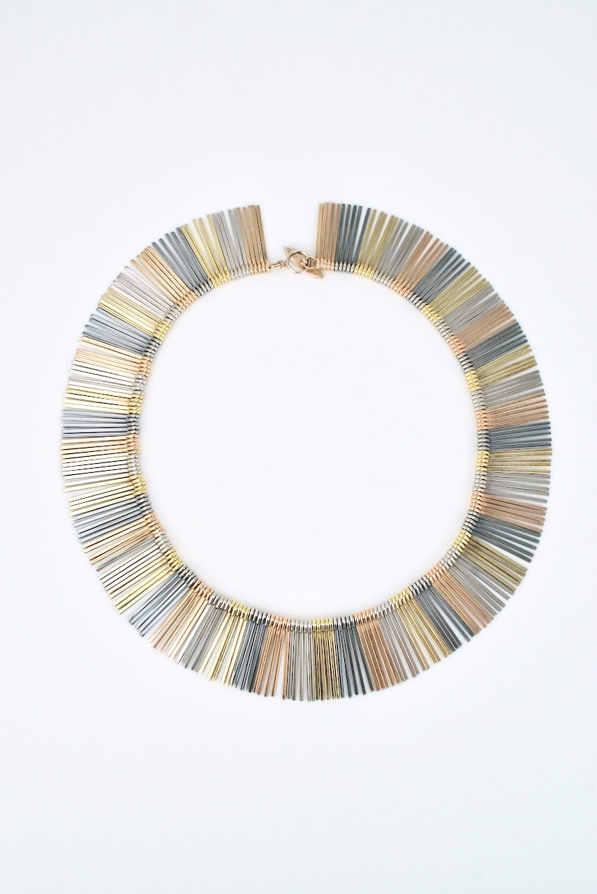 Vintage Solid Silver Four Colour Fringe Necklace - Anton Michelsen