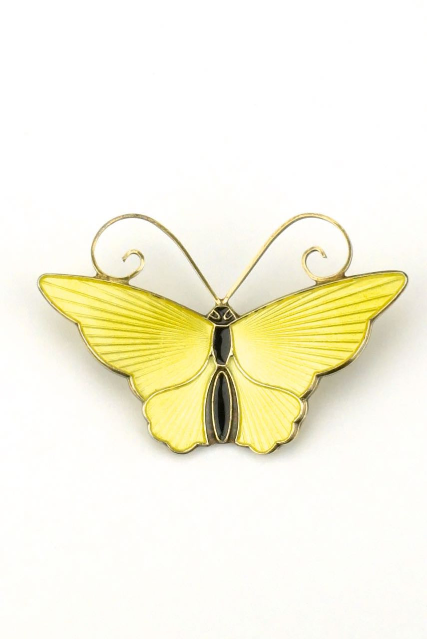 David Andersen silver and yellow enamel butterfly brooch