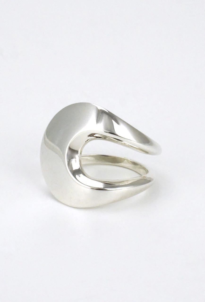 David Andersen modernist solid silver wrap ring 1960s