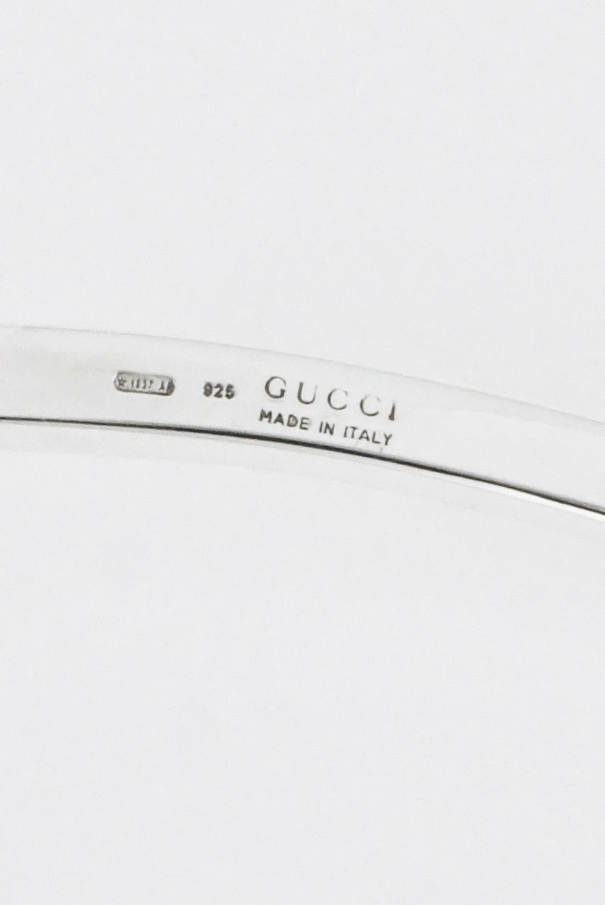 Vintage Gucci Sterling Silver Neck Ring 1980s