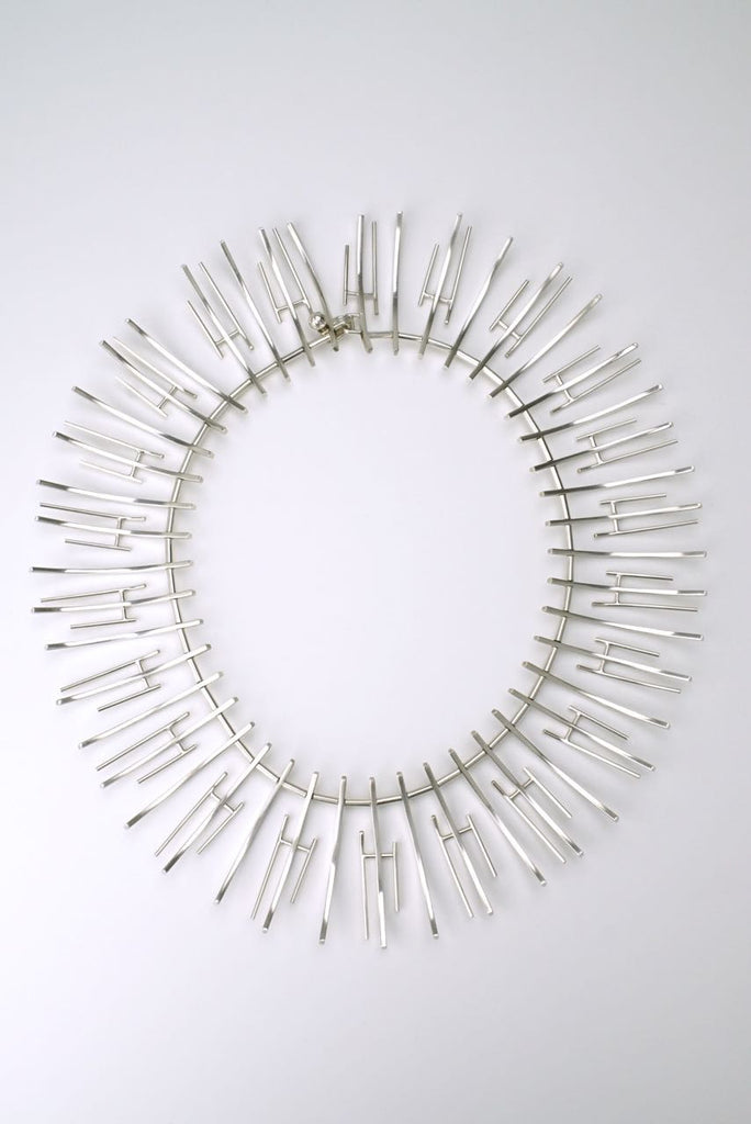Bent Knudsen silver fringe necklace - design 197