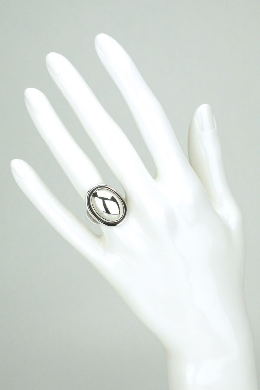Georg Jensen silver oval silverstone ring - design 46A