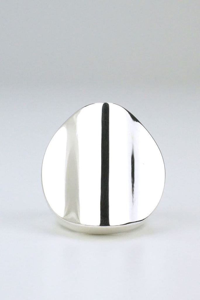 Hans Hansen large silver wavy dot ring