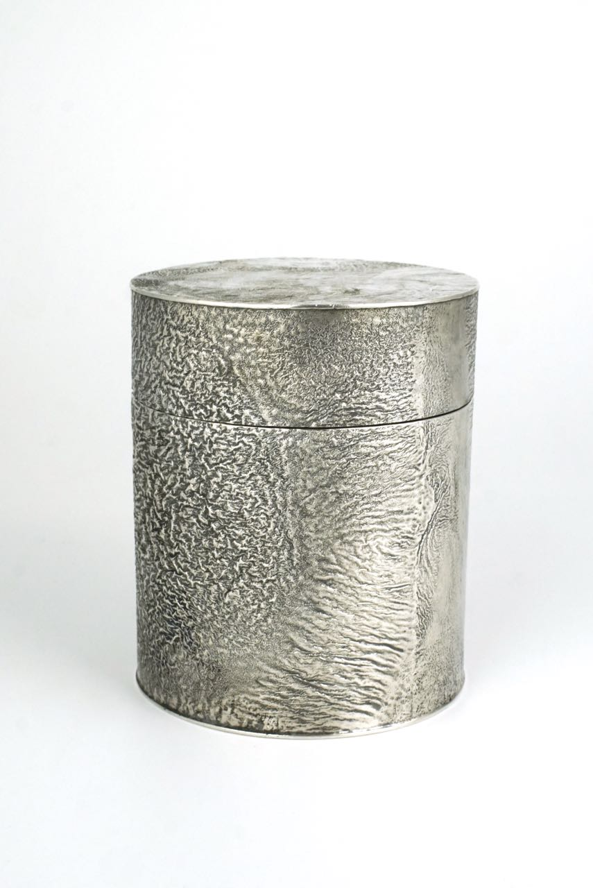 Swedish WA Bolin solid silver samorodok cannister box 1950s