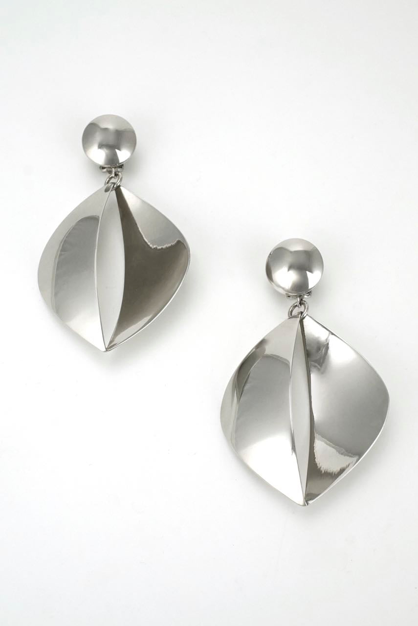 Georg Jensen large silver drop earrings - design 380A Regitze Overgaard