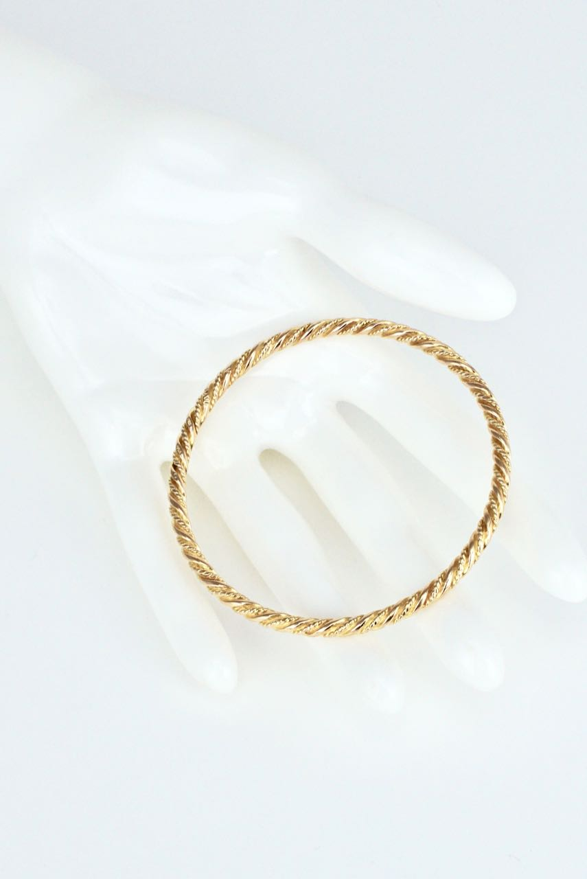 Georg Jensen 18K Gold Bracelet Bangle - Design 1017A