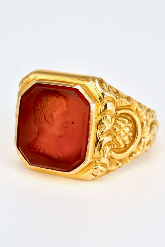 Victorian 15k Gold and Carnelian Intaglio Ring