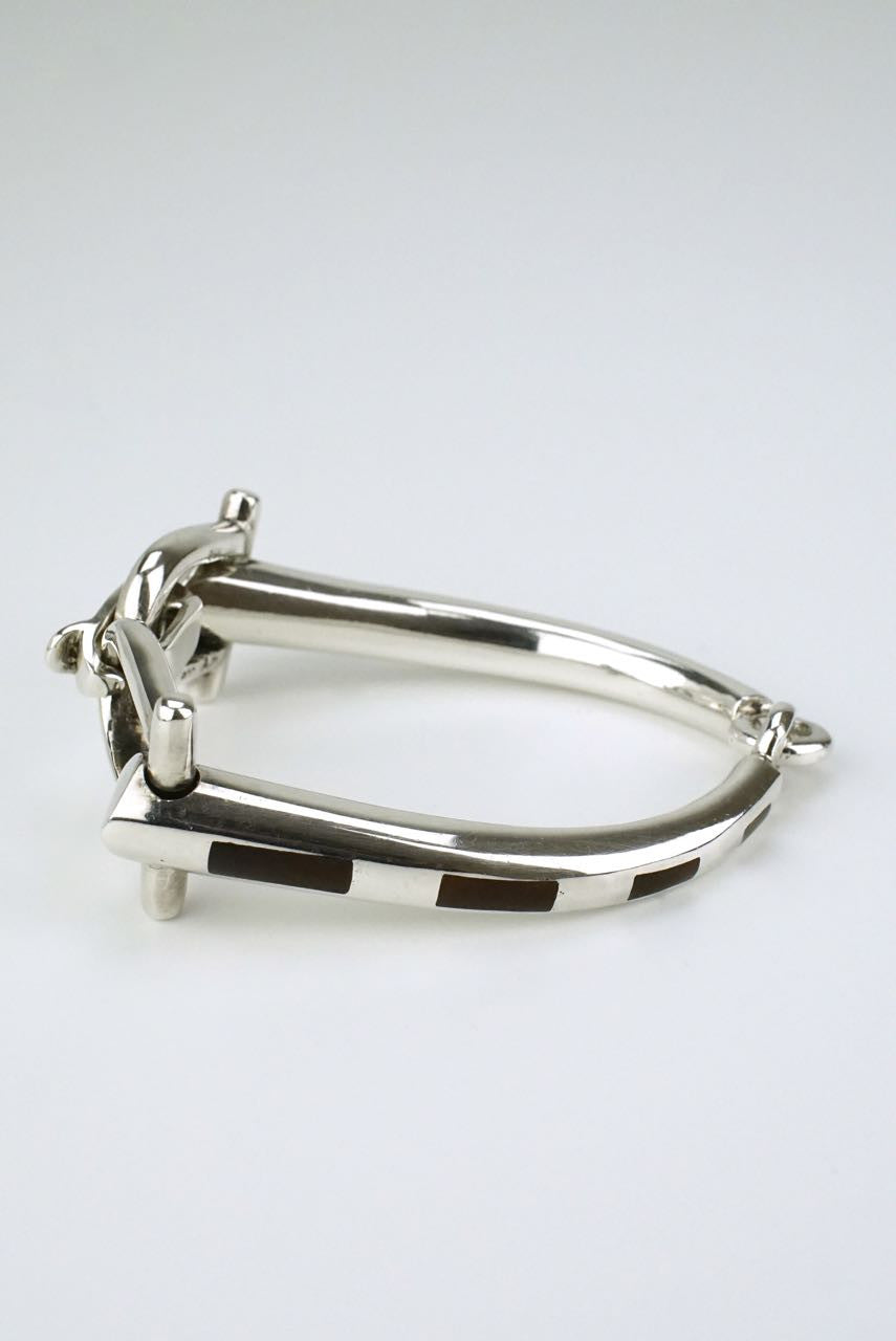 Antonio Fallaci silver and brown enamel bracelet