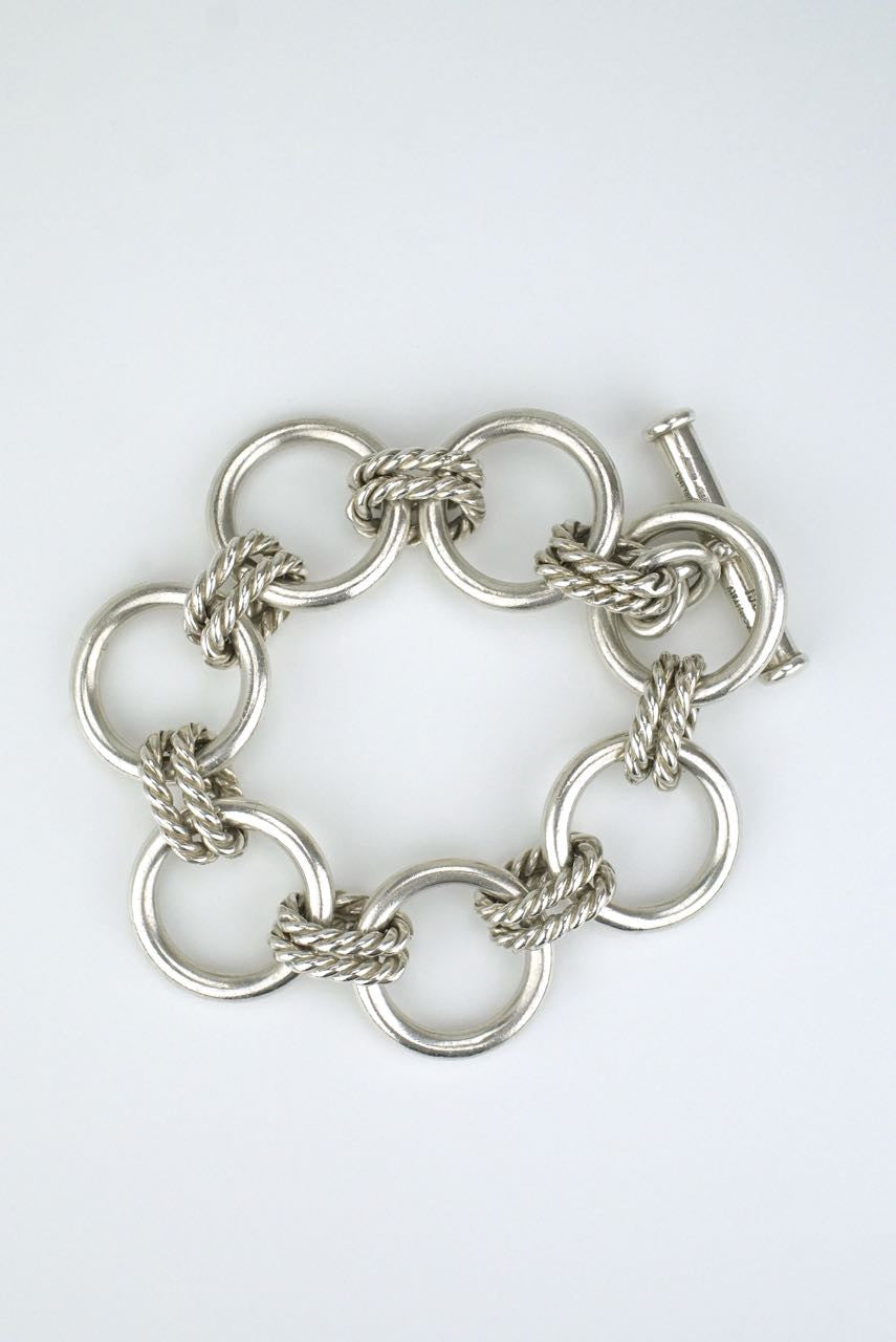Gucci silver round and twist link bracelet
