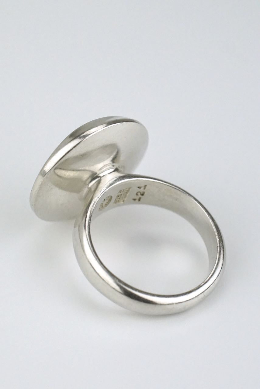Georg Jensen silver disc ring - design 121
