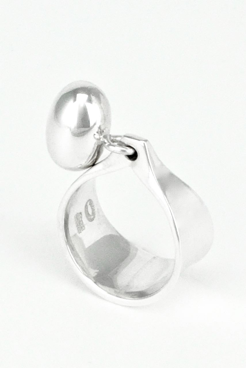 Georg Jensen Sterling Silver Pod Dangle Ring - Torun - Design 156