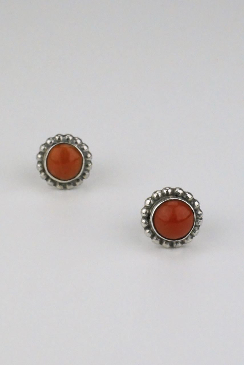 Anton Michelsen silver and coral stud earrings