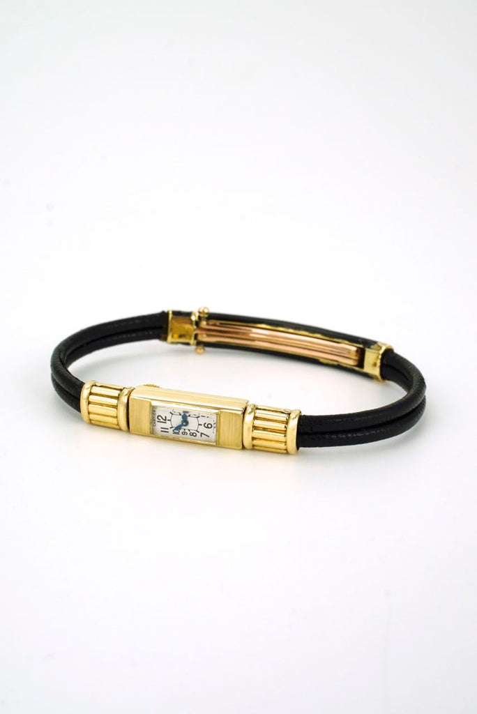 Art Deco 18k gold vintage Cartier 104 Duoplan Baguette small wrist watch
