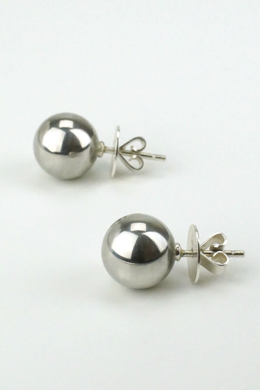 Vintage Georg Jensen Silver Ball Earrings - Design 141
