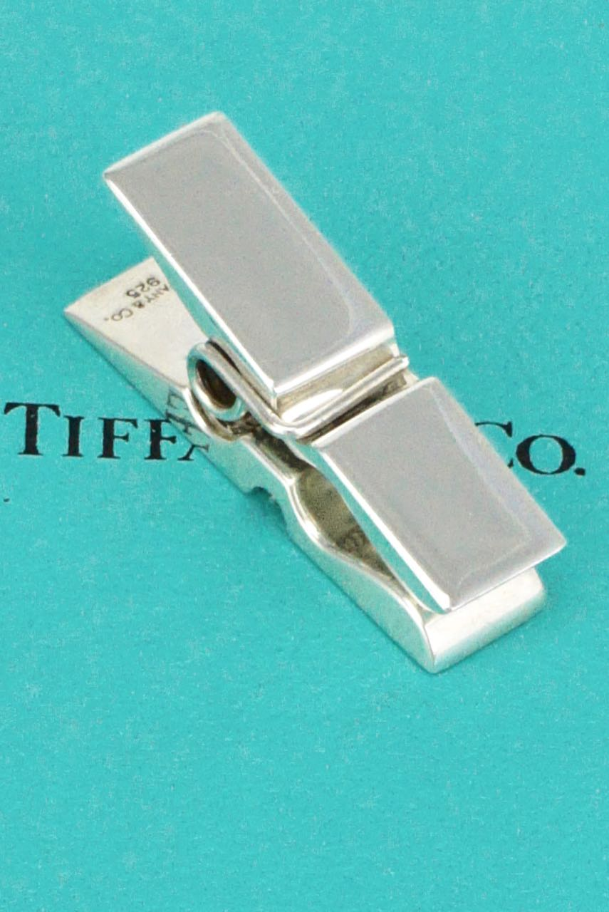 Tiffany Solid Silver Novelty Paper Clip Memo Holder