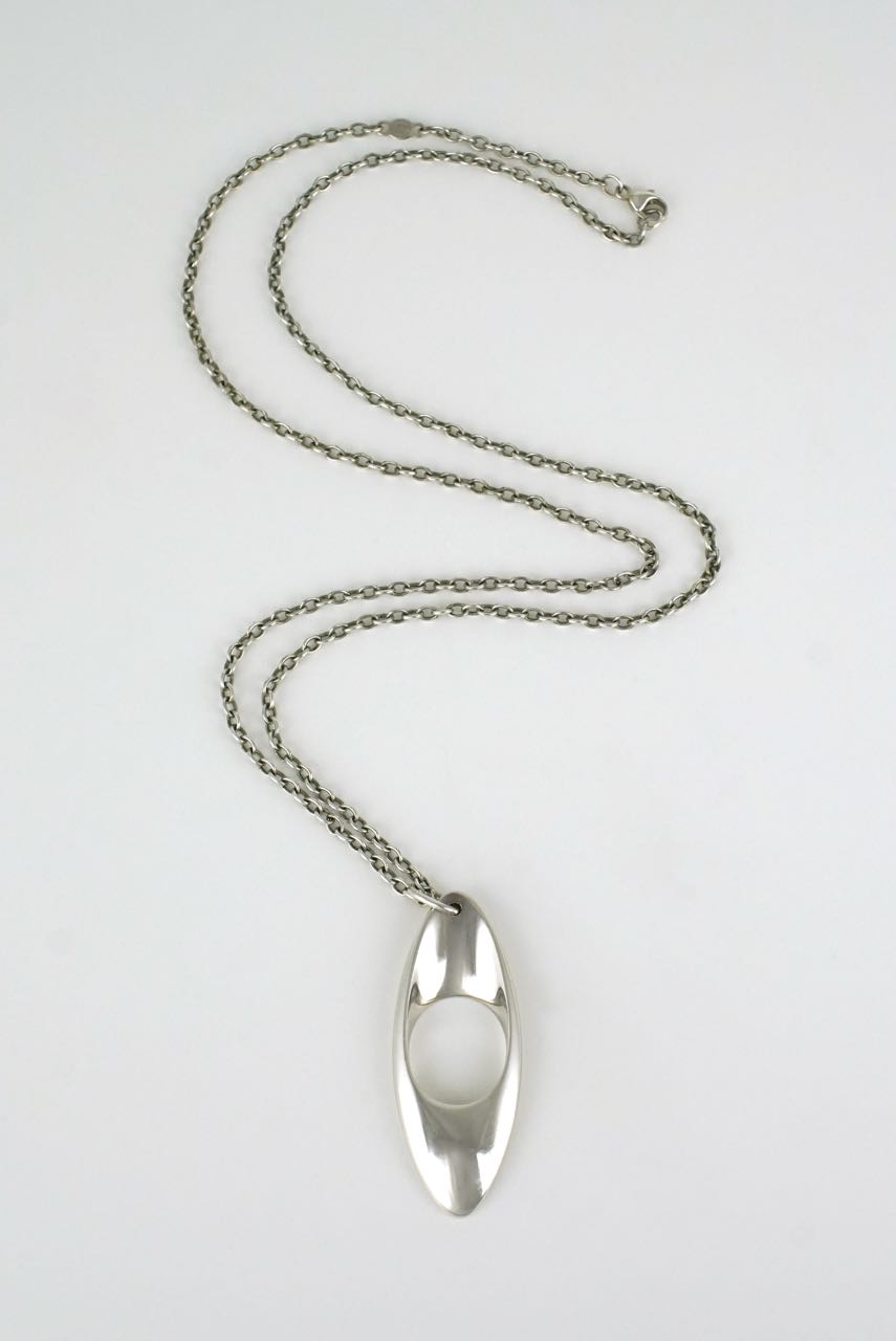 Georg Jensen silver pendant necklace - design 390 1990s