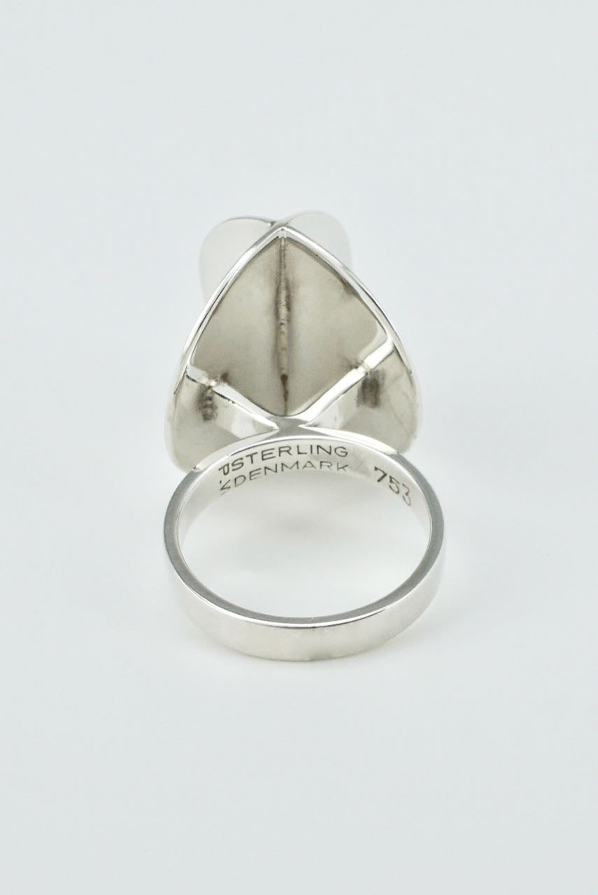 Vintage Danish Modernist Sterling Silver Ring - 1960s