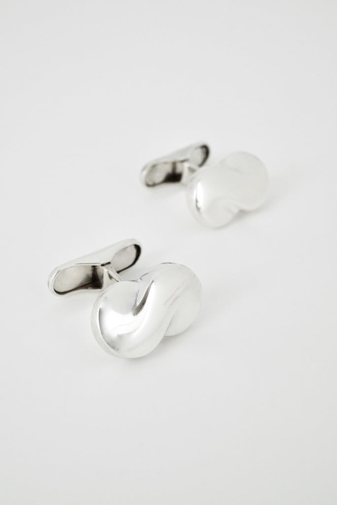Vintage Georg Jensen Sterling Silver Scroll Cufflinks