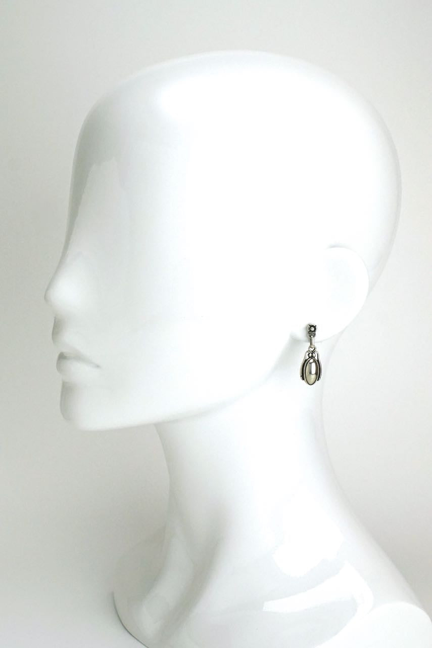 Georg Jensen silver and silverstone drop earrings 2009
