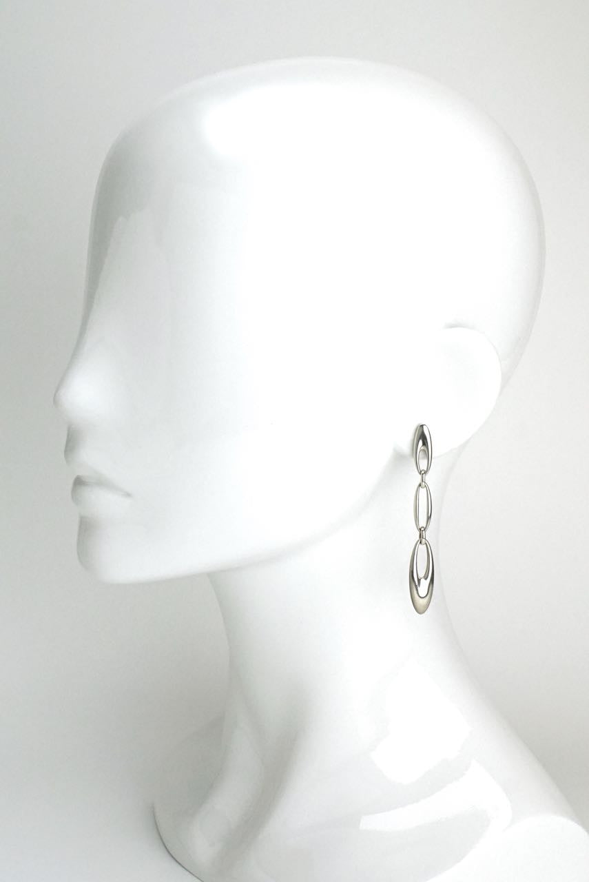 Georg Jensen Zephyr silver drop earrings - design 500