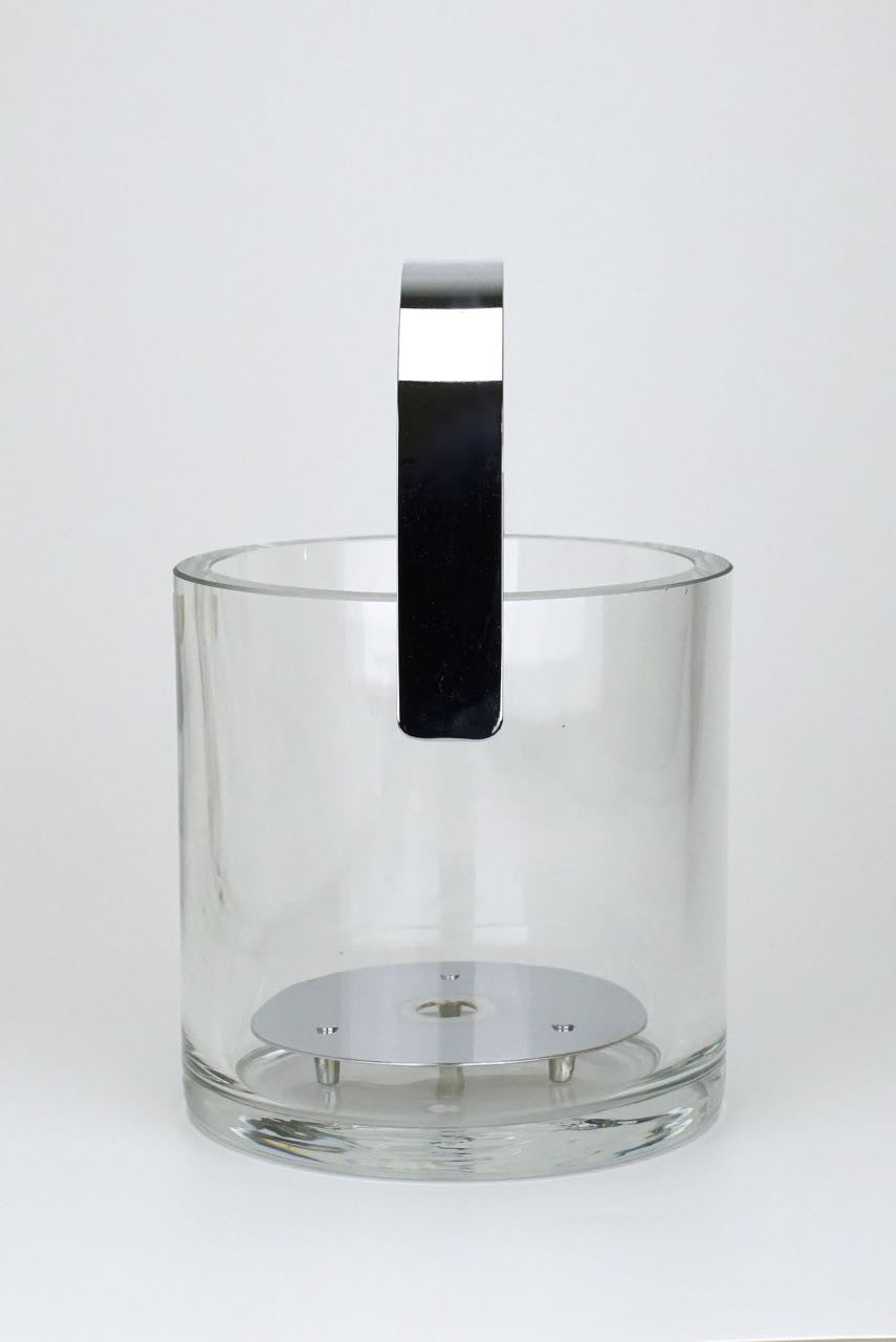 Orrefors glass ice bucket and tongs