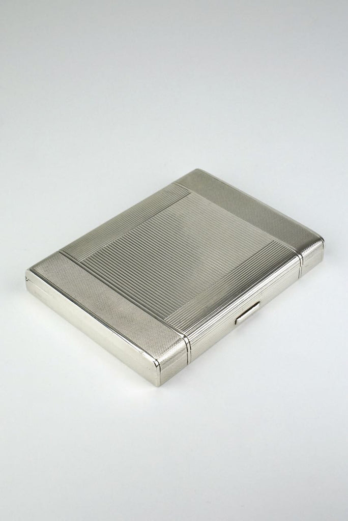 Sterling silver rectangular table box - Adie Brothers Birmingham 1949