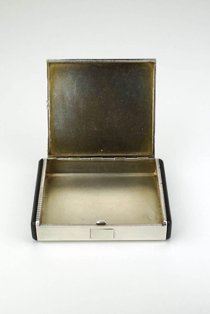 Silver and bakelite table box - Austria 1920s