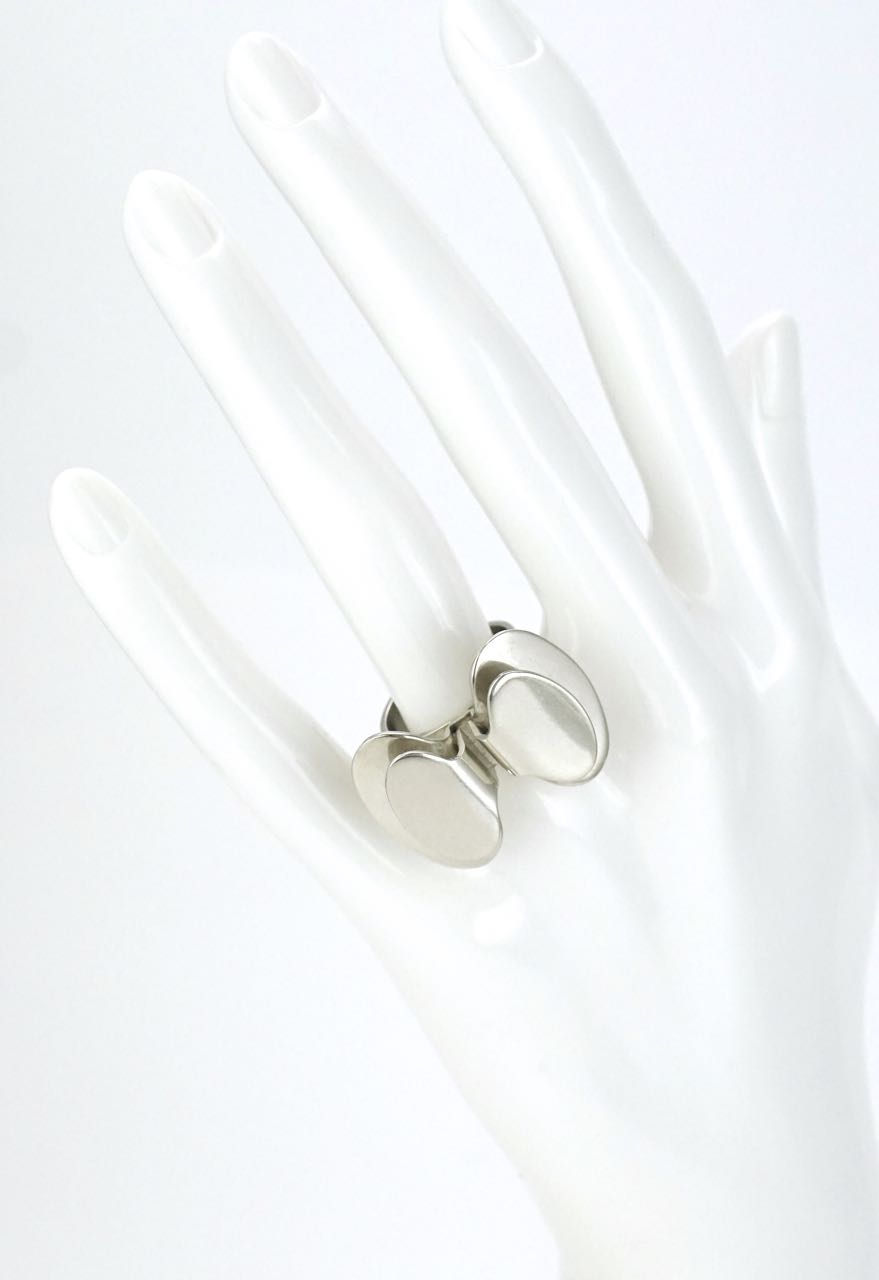 NE From Danish silver modernist butterfly ring 1970s
