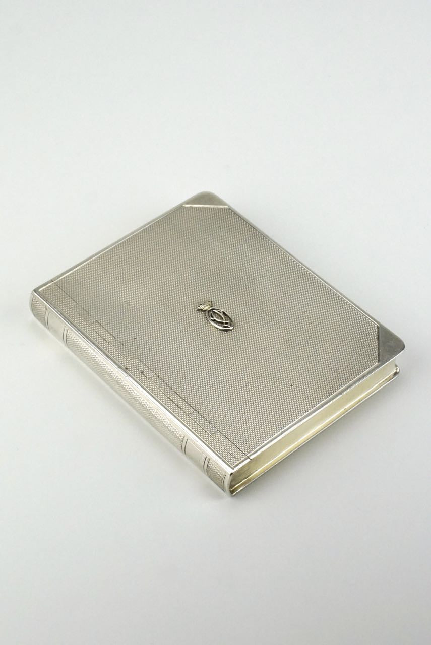Sterling silver horse racing table box - Mappin and Webb 1930