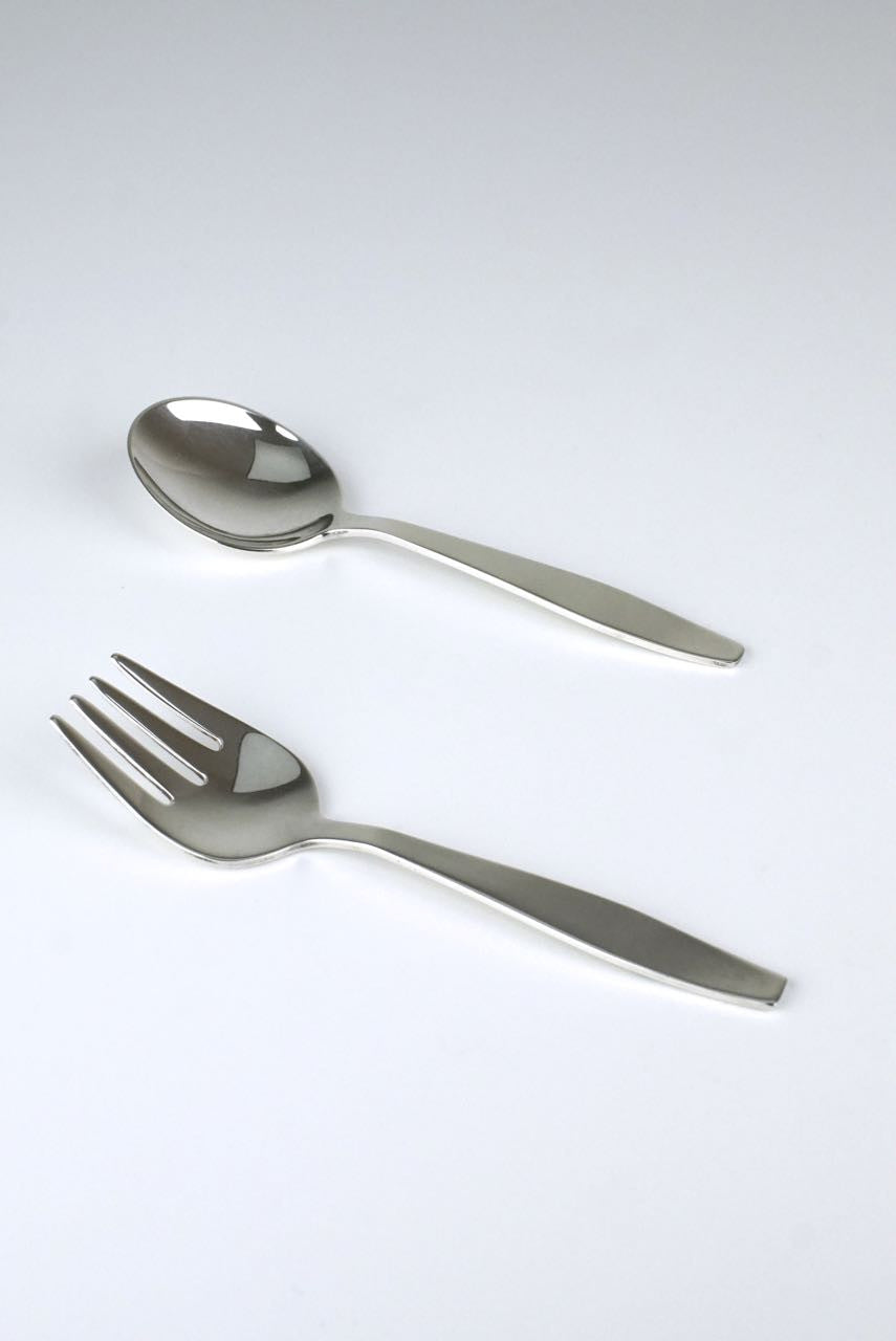 Gucci child's silver spoon and fork set