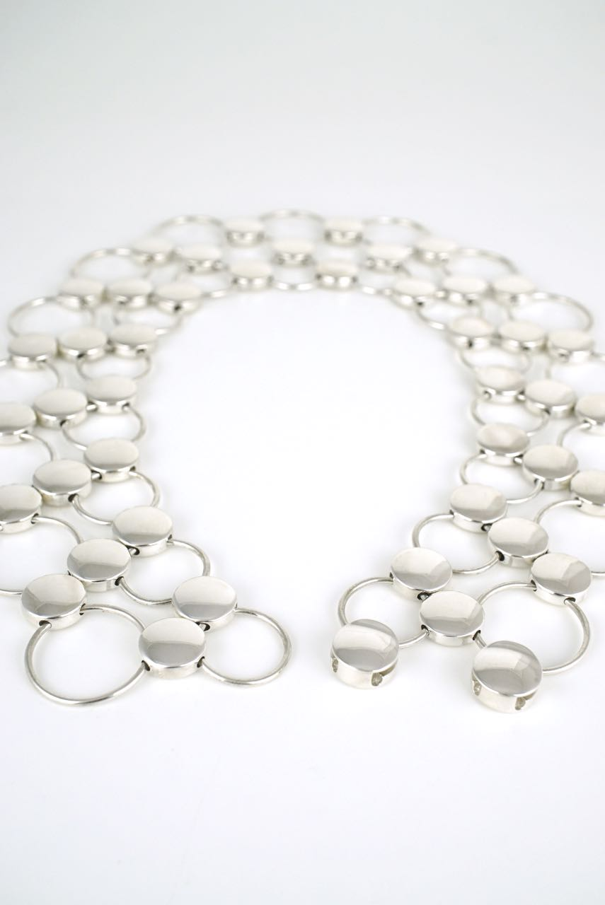 Georg Jensen silver dot collier necklace - design 464 Regitze Overgaard