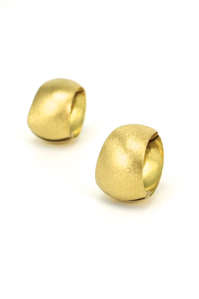 18k yellow gold double sided clip earrings 1960s