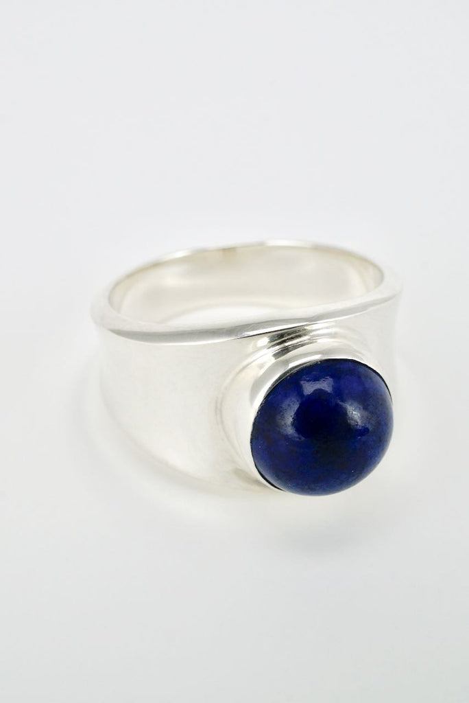 Vintage Georg Jensen silver and lapis ring - design 124