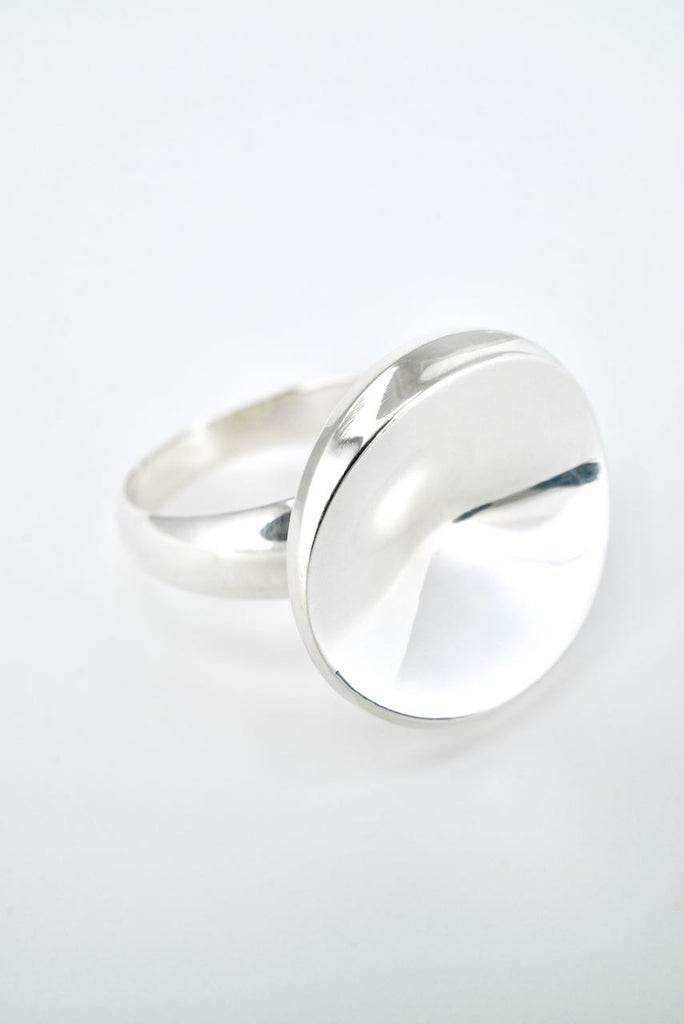 Georg Jensen Sterling SIlver Disc Ring - Design 121 Nanna Ditzel