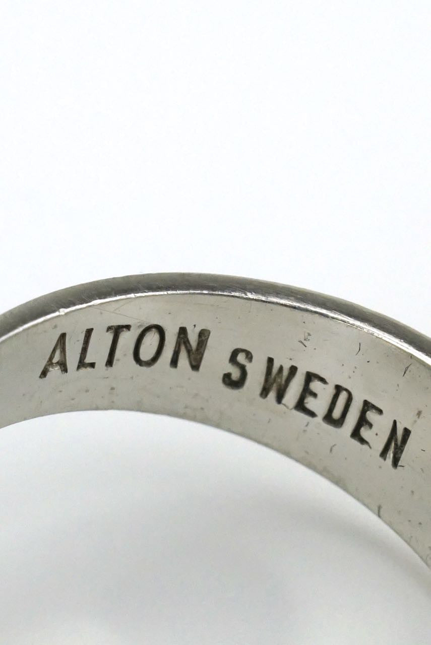 Alton Silver Conical Kinetic Ring Sweden 1960's