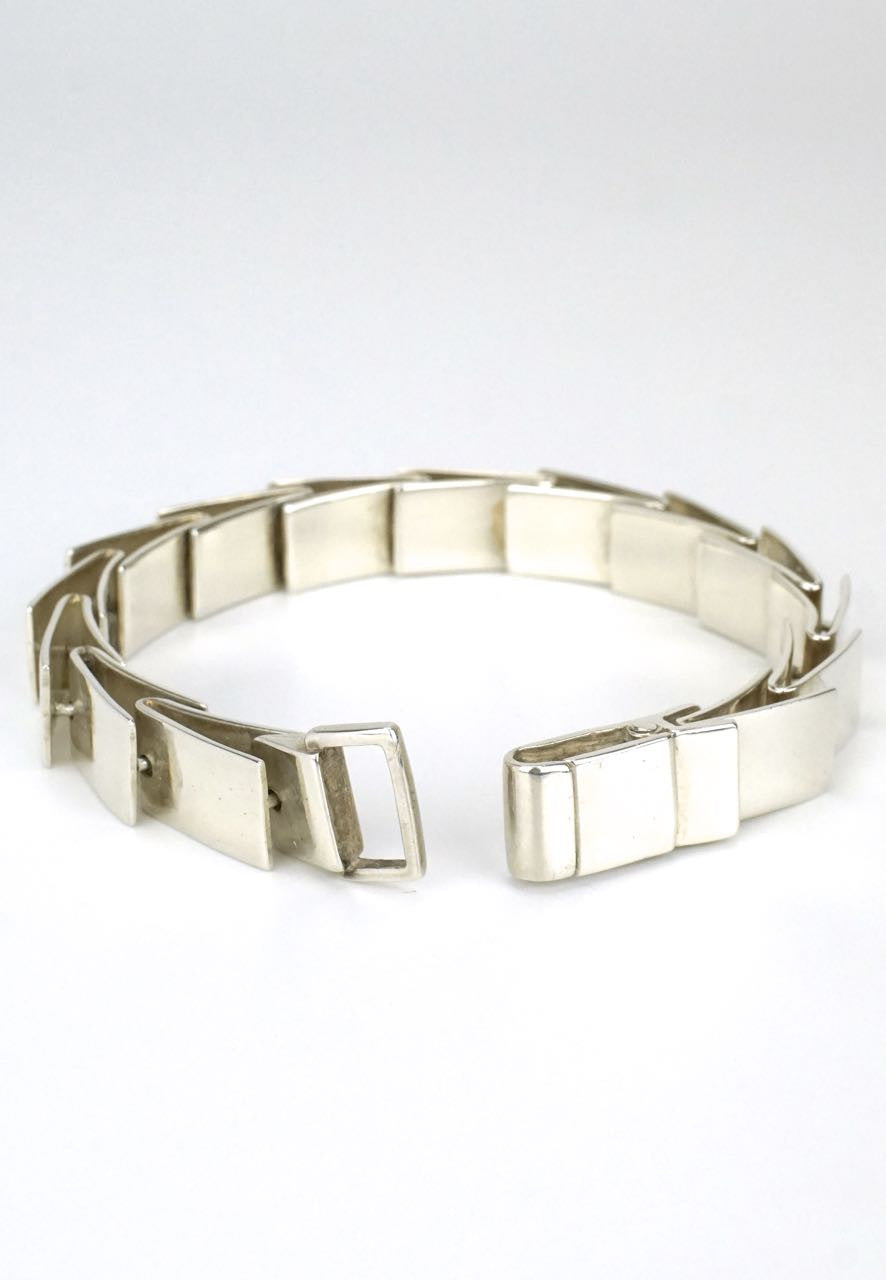 Gucci silver overlapping link bracelet 1990s