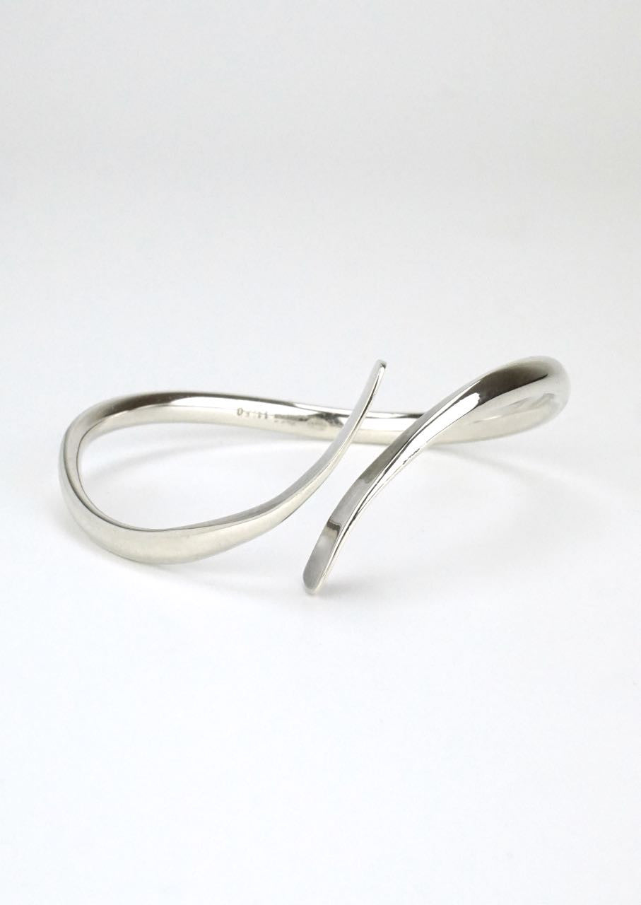 Georg Jensen modernist silver bypass bangle - design 11250