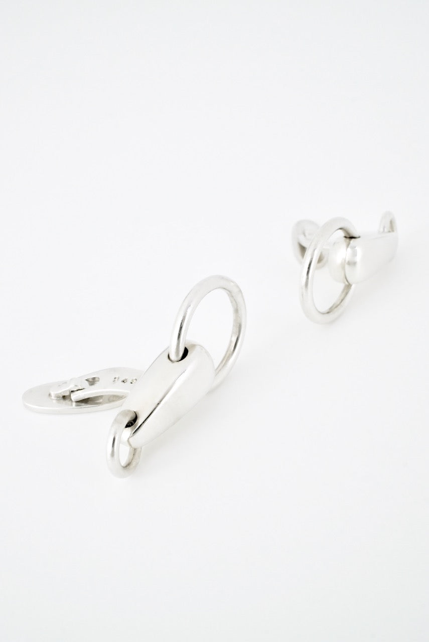 Vintage Georg Jensen Sterling Silver Double Loop Cufflinks - design 249
