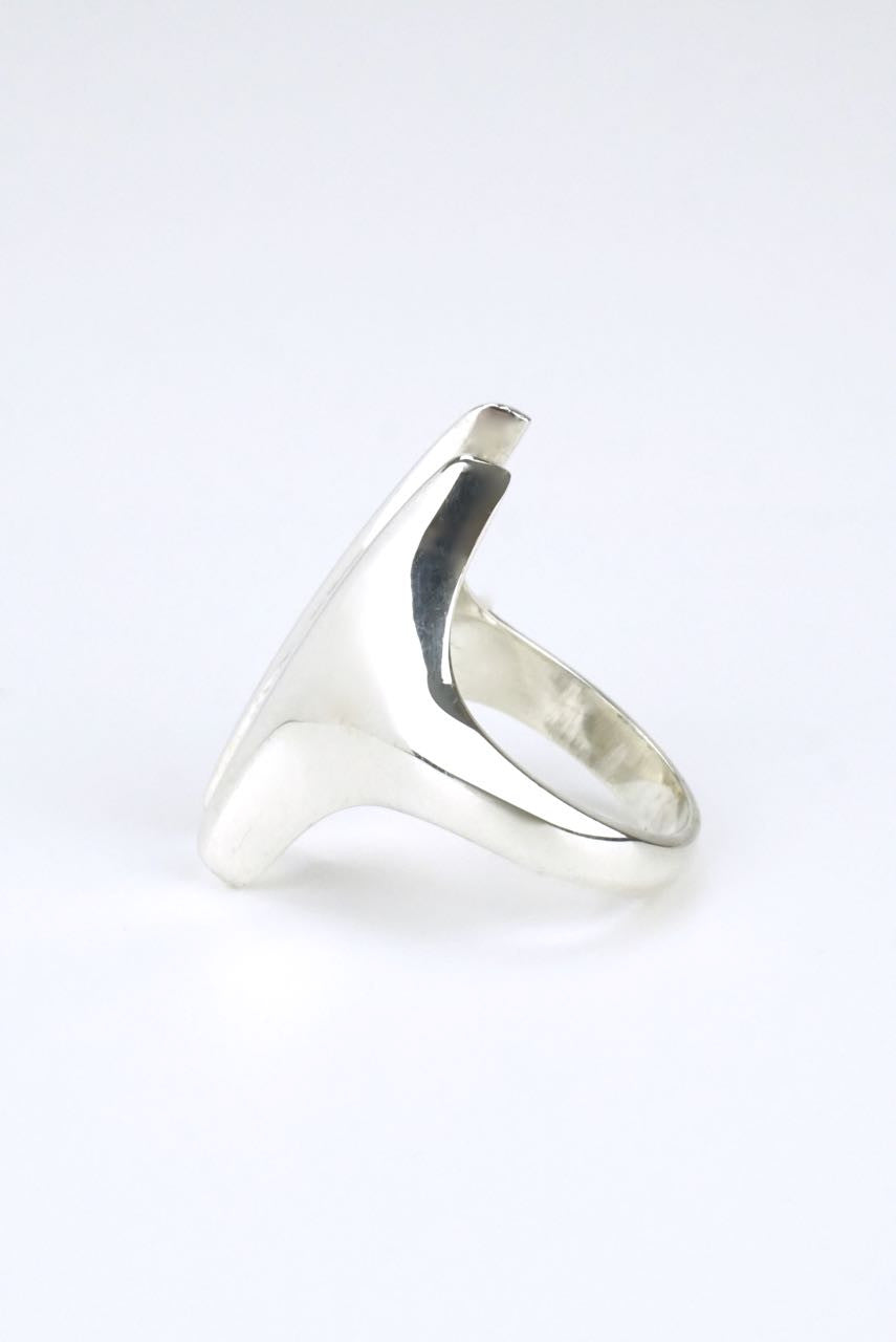 Georg Jensen silver modernist double spike ring - design 126 Henning Koppel
