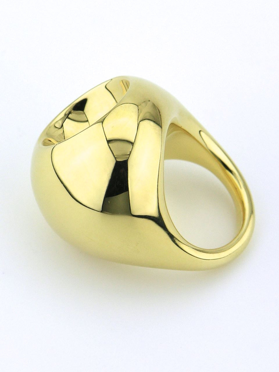 Georg Jensen 18ct yellow gold cave dress ring - design 1509