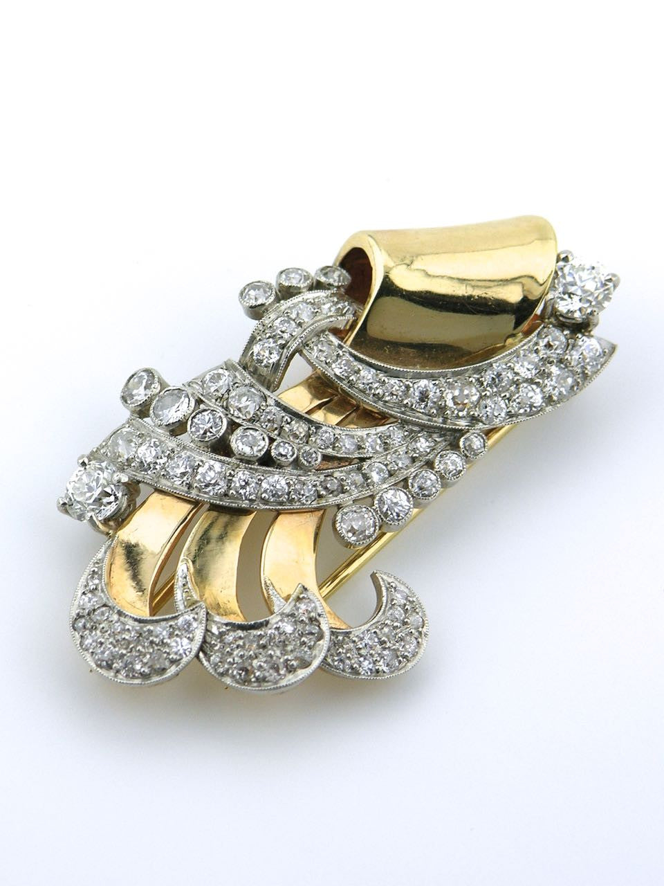 1940s American Retro Diamond Brooch