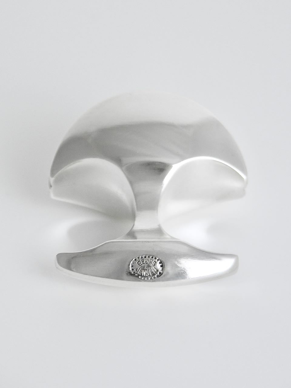 Georg Jensen Silver Domed Two Finger Ring - Design 161 Ibe Dahlquist