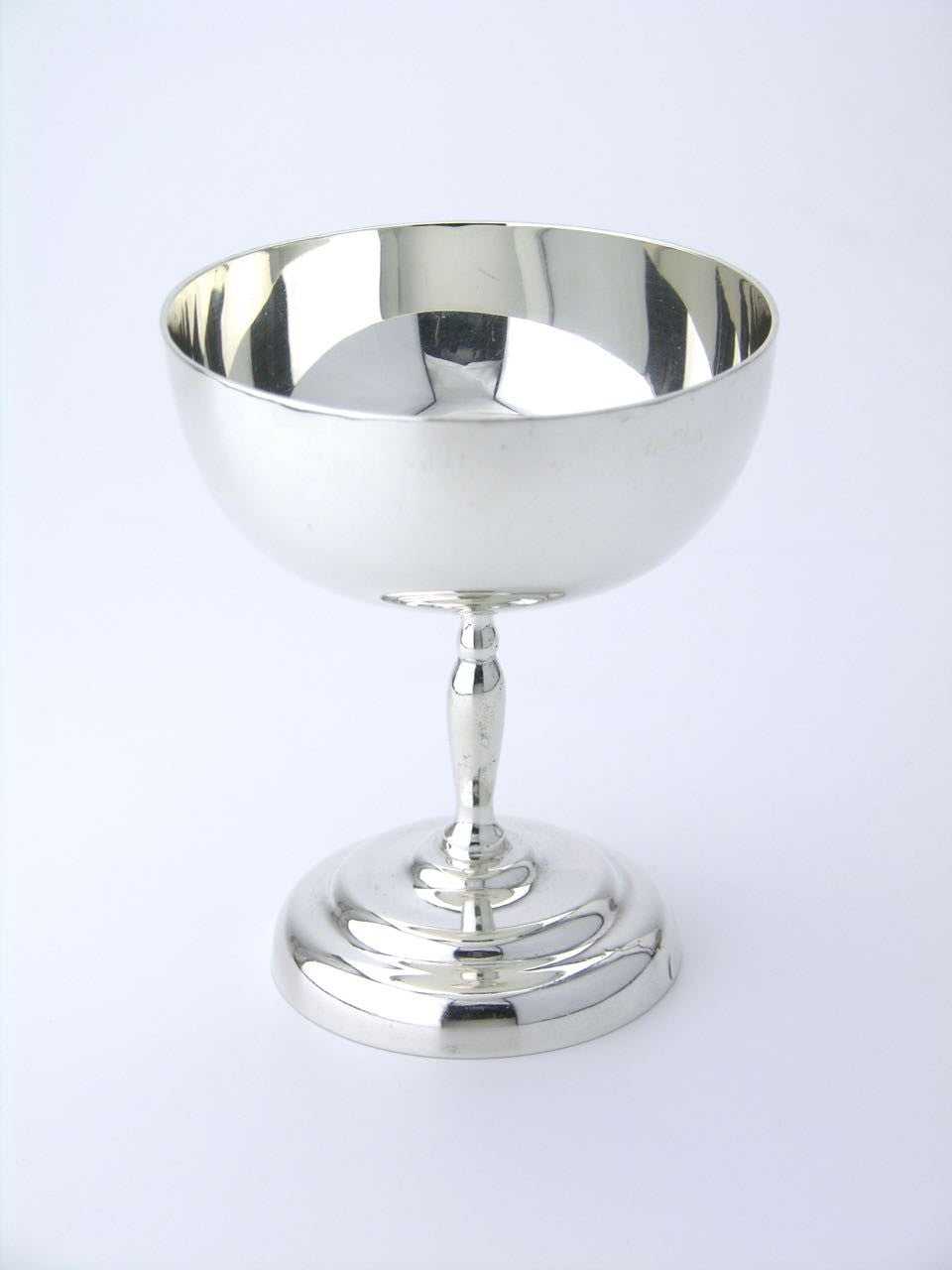 Mexican set of six silver martini glasses