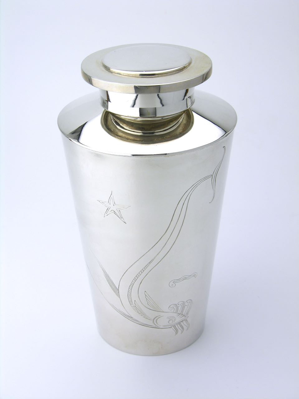 David Andersen solid silver cocktail shaker