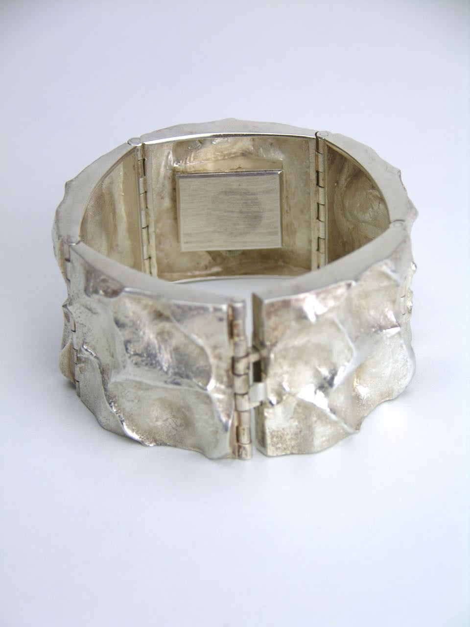 Matti Hyvarinen silver textured bracelet watch