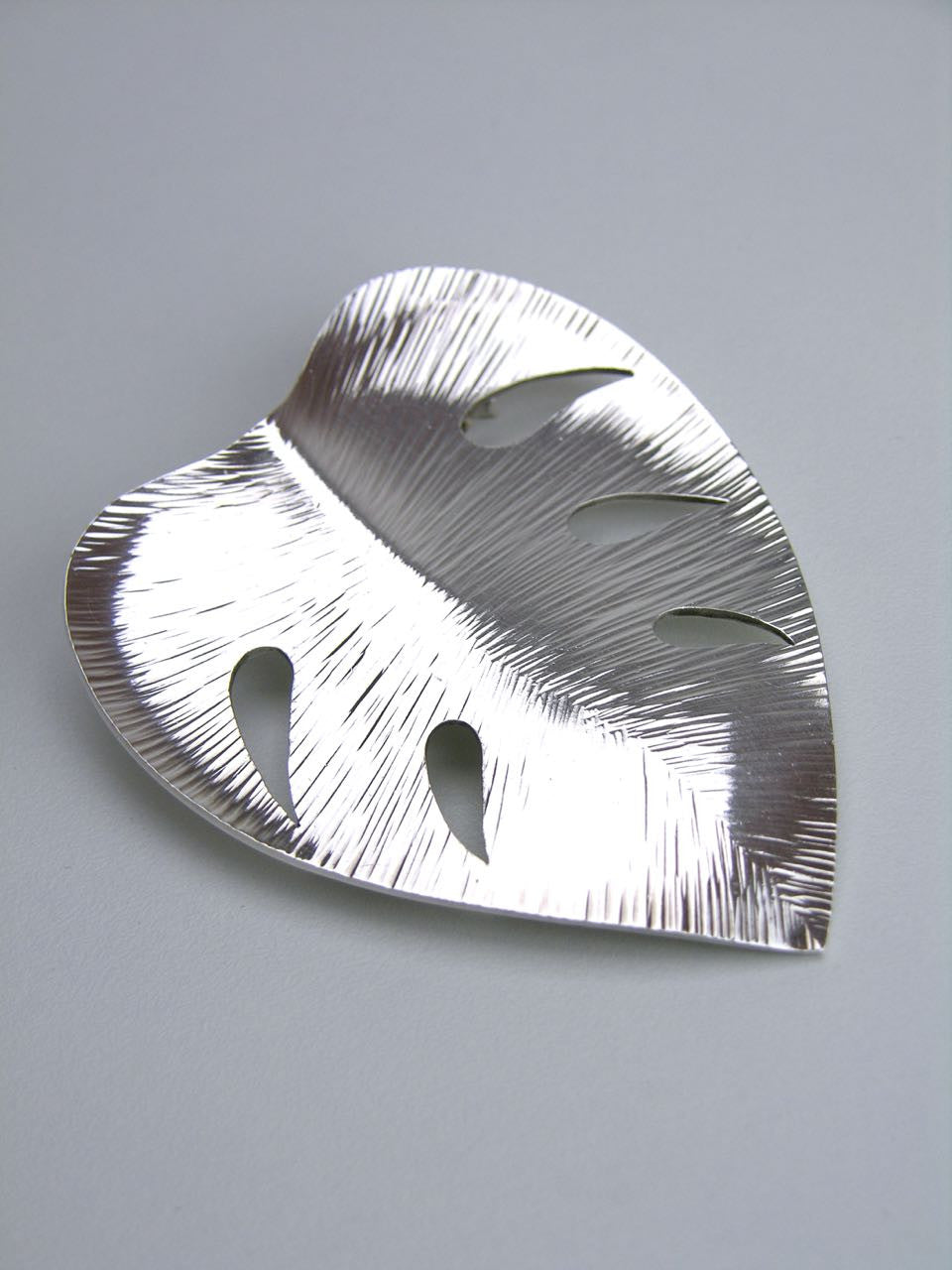 Anton Michelsen Silver Tropical Leaf Brooch