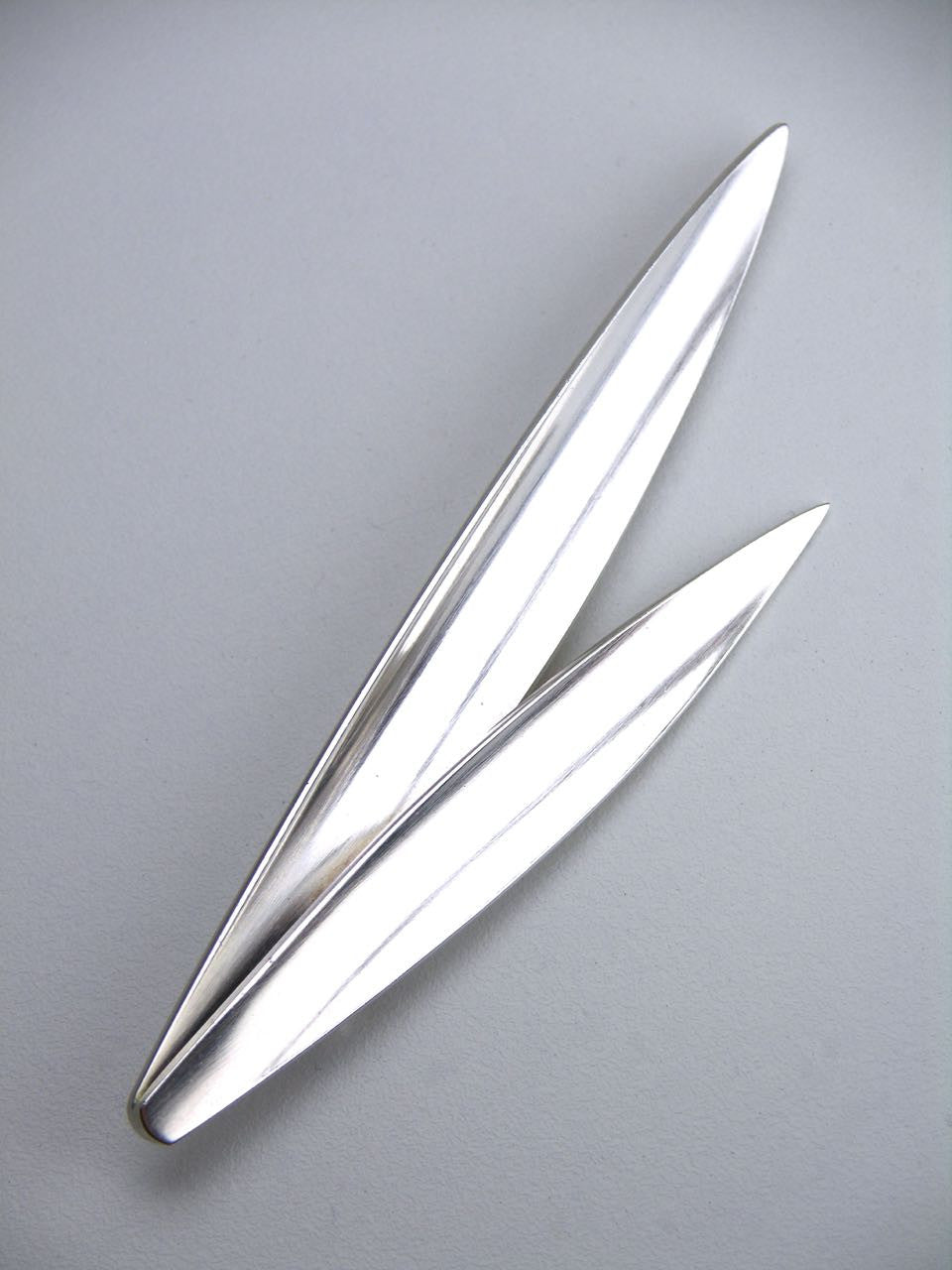 Anton Michelsen double blade of grass brooch