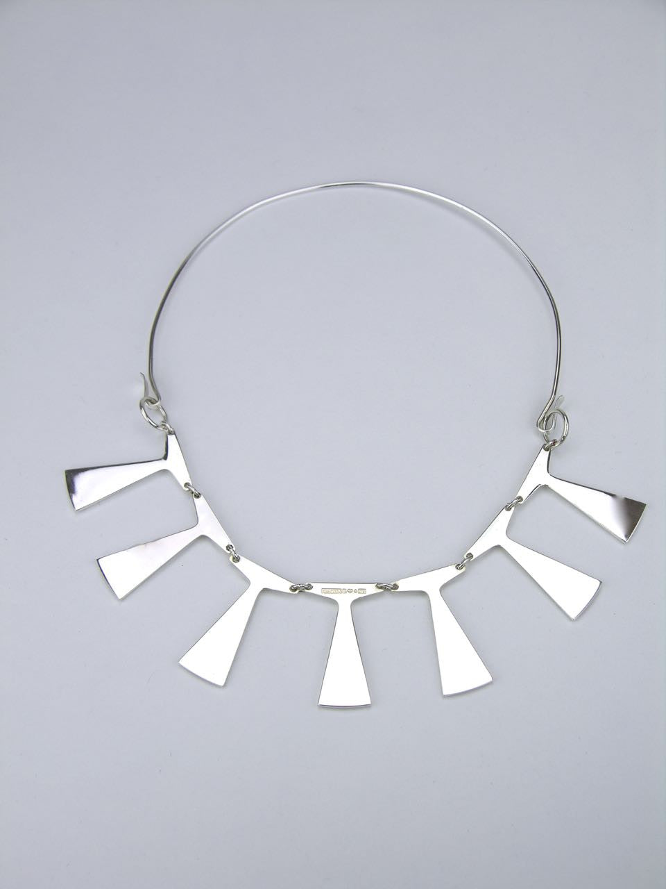 Gesons silver flared spike necklace - Sweden 1968