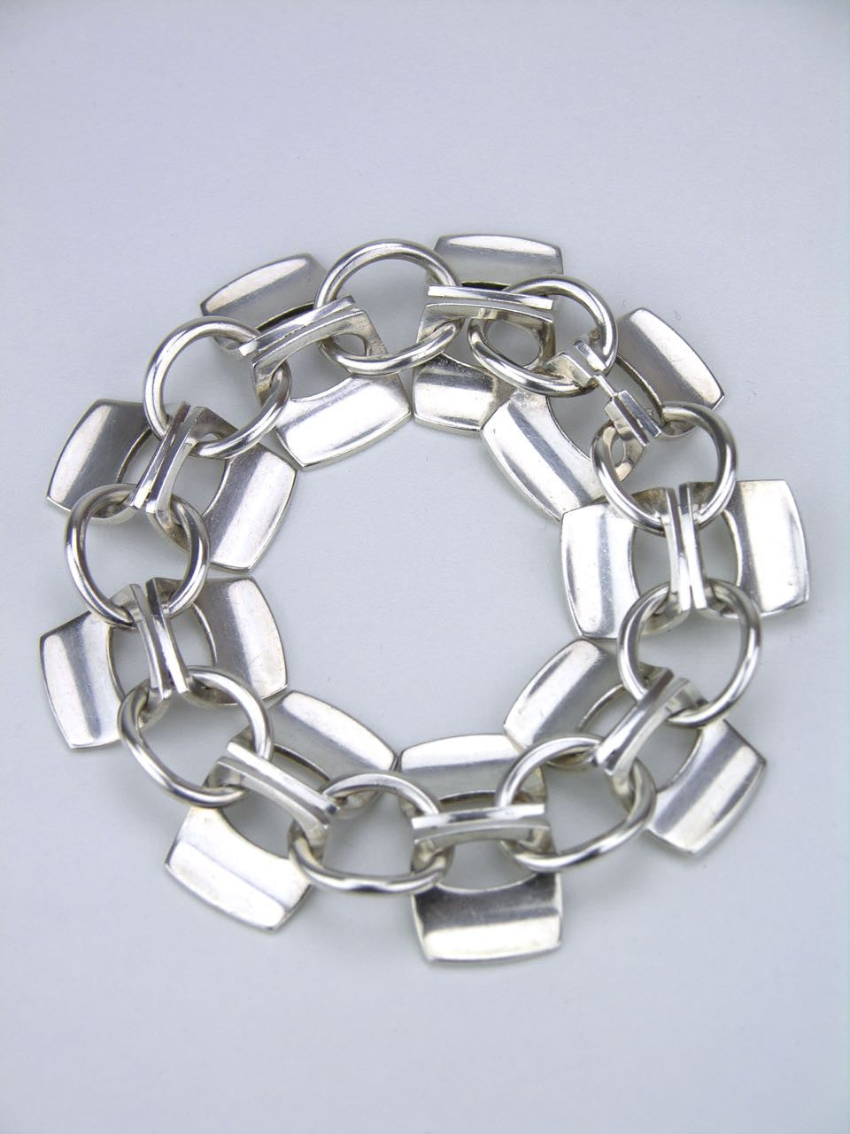 Alton pair of solid silver architectural bracelets that also form a necklace