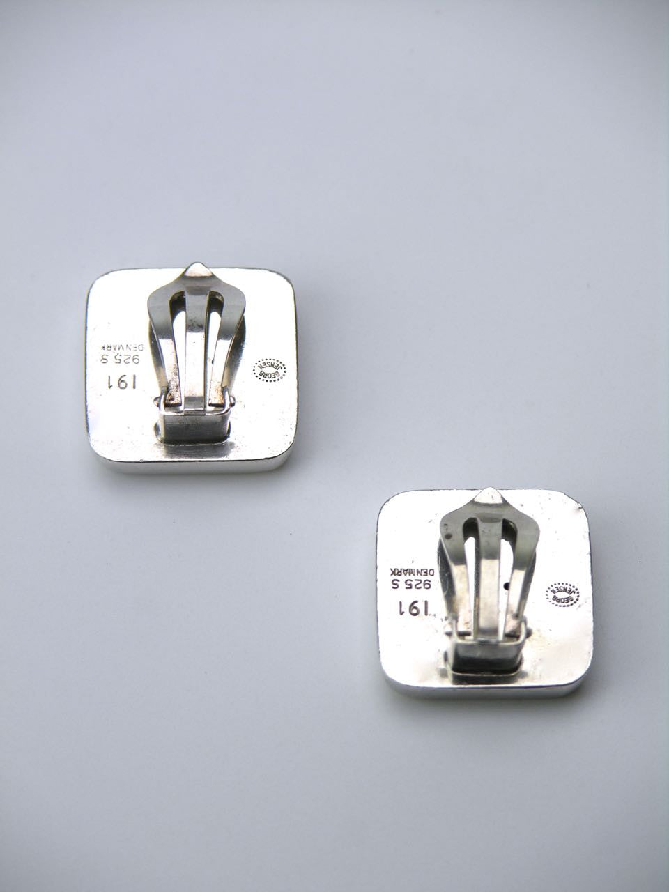 Georg Jensen square clip earrings - design number 191